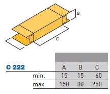 Размеры пачек С222