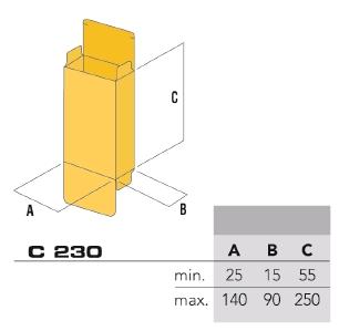 Размеры пачек С230